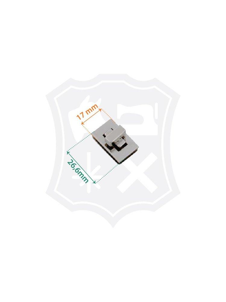 Rechthoekig Draaislot, nikkelkleurig, 26,6mm x 17mm