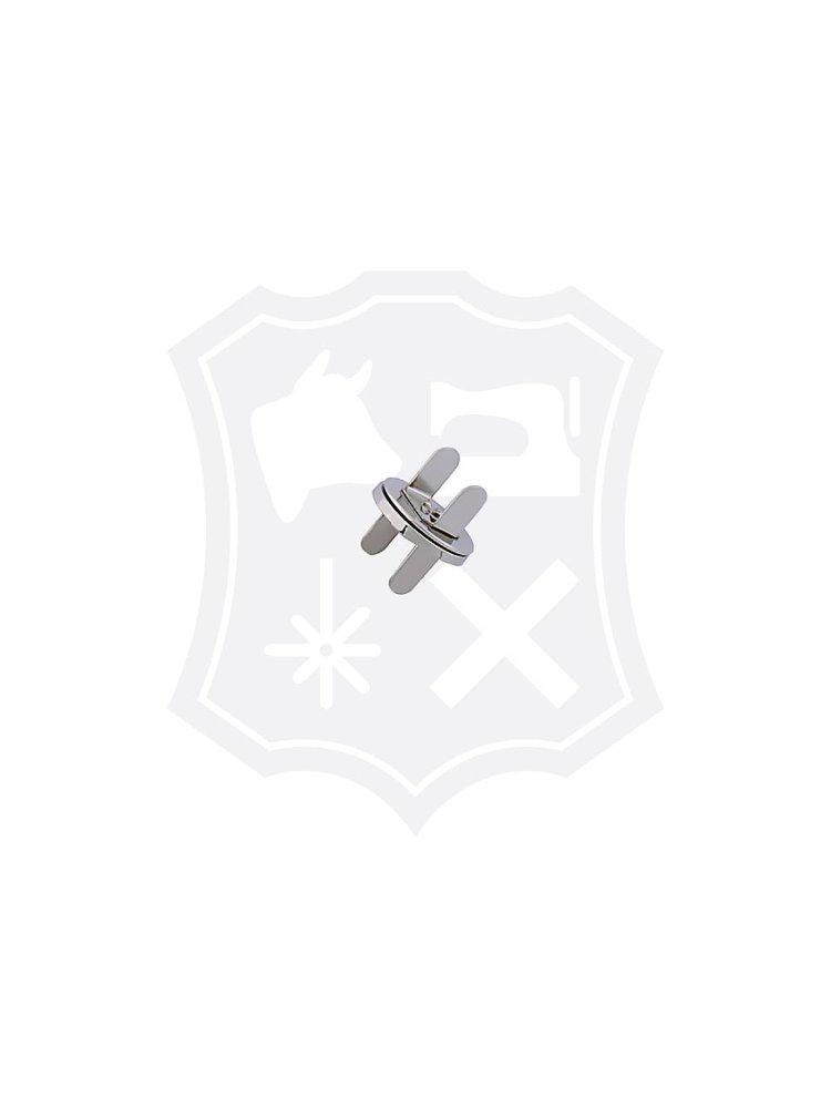 Rond Magneetslot, extra dun, nikkelkleurig, diameter 18,6mm (4 stuks)
