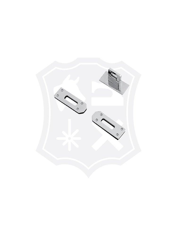 Rechthoekig Slot, nikkelkleurig, 45,6mm x 16,5mm
