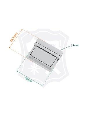 Tic-Tuc Slot, nikkelkleurig, 49,3mm x 50mm