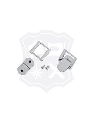 Luxe Tashengsel Bevestiging, nikkelkleurig, 20mm (2 stuks)