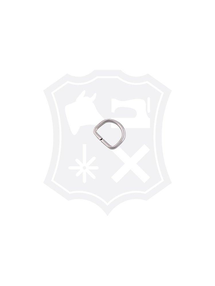 D-Ring, nikkelkleurig, binnenmaat 12,5mm (30 stuks)