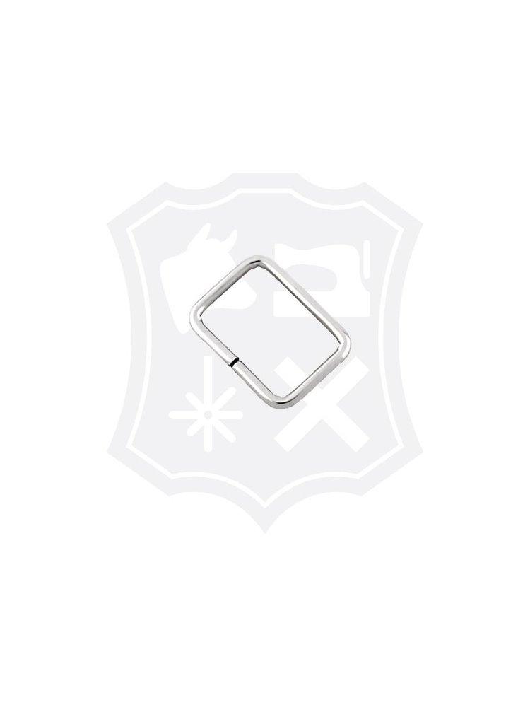 Rechthoekige Ring, nikkelkleurig, 25mm, dikte 2,8mm