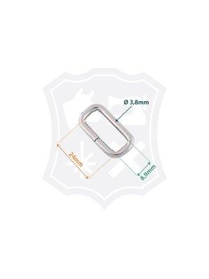 Rechthoekige Ring, binnenmaat 24mm, dikte 3,8mm
