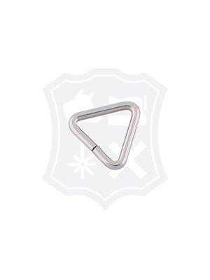 Driehoekige Ring, nikkelkleurig, 19,5mm (15 stuks)