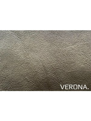 Verona Italiaans Pull-up Leder, volnerf (Y194: Oliva)