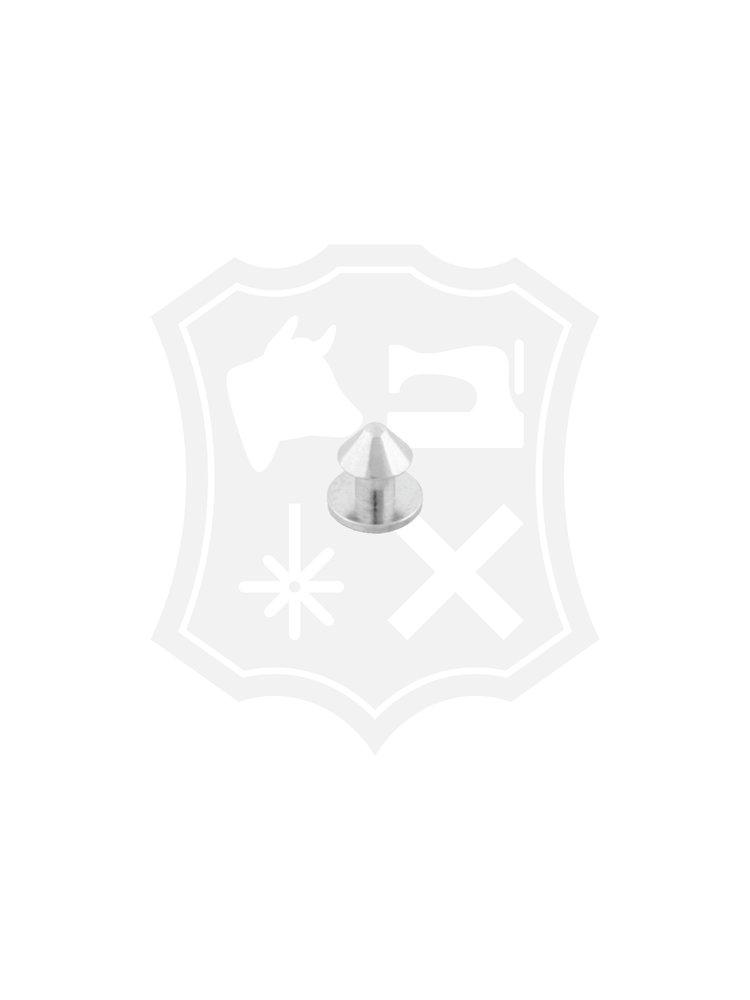Geweerknop, schroef, nikkelkleurig, kop 9,2mm (4 stuks) (Excl. schroeven)