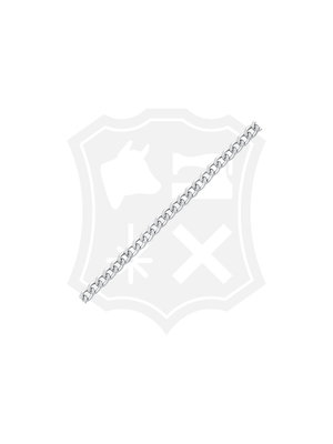 Gourmet Schakel Ketting, nikkelkleurig, 10 x 14mm (1m)