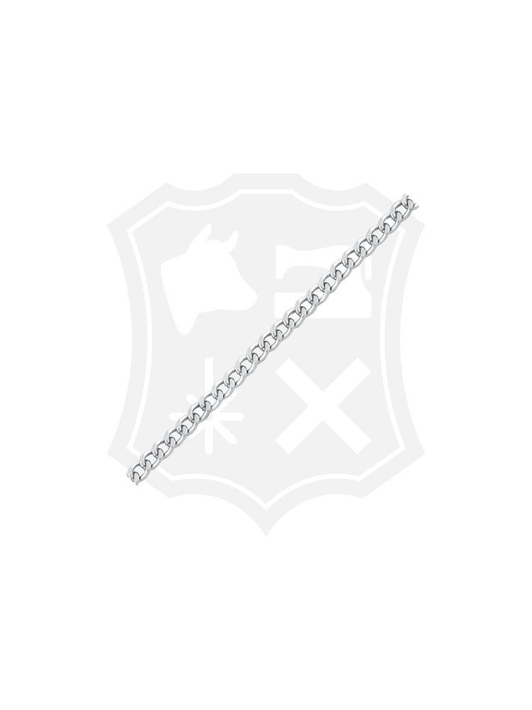 Gourmet Schakel Ketting, Geslepen, nikkelkleurig, 10mm x 14mm (1 meter)