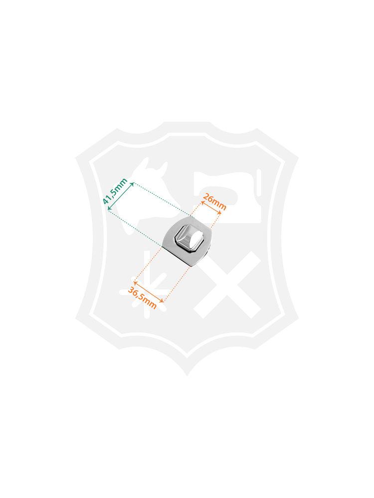 Draaislot, nikkelkleurig, 36,5mm x 41,5mm
