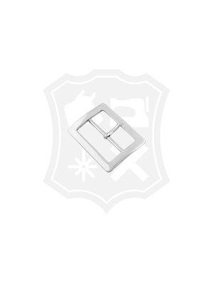 Rechthoekige gesp, nikkelkleurig, 50,5mm