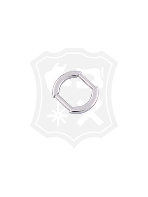 Ovale Tashengsel Bevestiging, nikkelkleurig, 20mm (2 stuks)