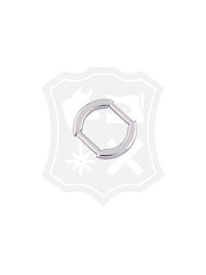 Ovale Tashengsel Bevestiging, nikkelkleurig, binnenmaat 20mm (2 stuks)