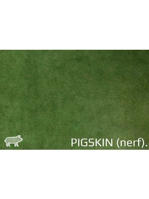 Pigskin Varkenssuède, nerf (Groen)