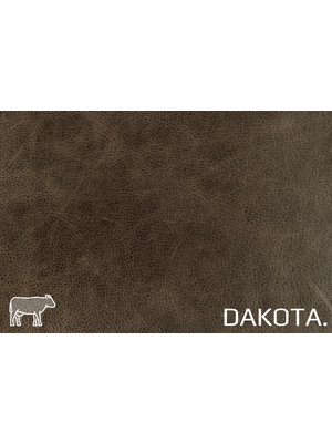 Dakota Analine gelooid nappa leder (v868: Cacao)