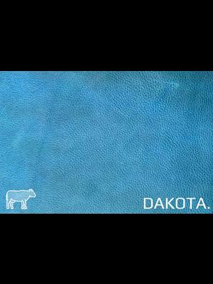 Dakota Aniline gelooid nappa leder (i836: Turquiose)