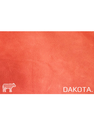 Dakota Analine gelooid nappa leder (s139: Strawberry)
