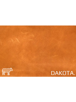 Dakota Analine gelooid nappa leder (v808: Pumpkin)