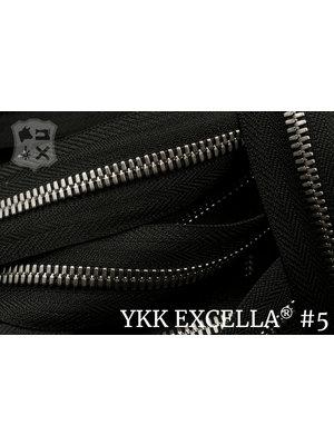 YKK Excella® Excella® #5 Zilver van de rol - (ZA19 - zwart 580)
