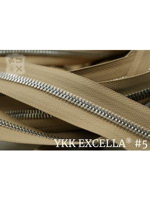 Excella® Excella® #5 Zilver van de rol - Camel (007). Per Meter