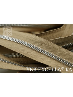 YKK Excella® Excella® #5 Zilver van de rol - (W11 - Camel 007)