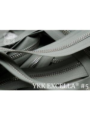 YKK Excella® Excella® #5 Zilver van de rol - (ZA05: Parelgrijs 577)