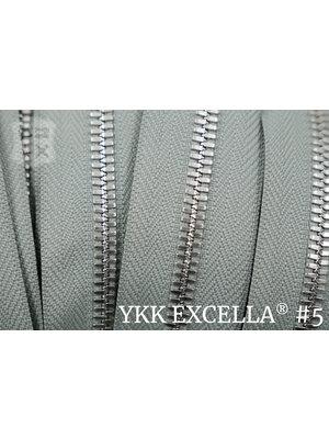 YKK Excella® Excella® #5 Zilver van de rol - Parelgrijs (577). Per Meter