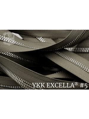 YKK Excella® Excella® #5 Zilver van de rol - (Y05: Taupe 034)