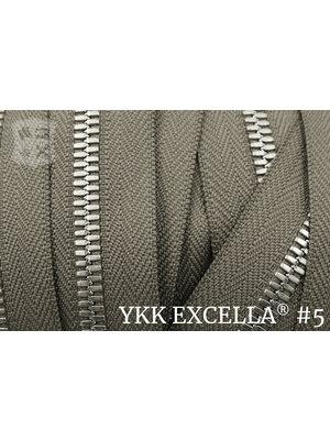 YKK Excella® Excella® #5 Zilver van de rol - Taupe (034). Per Meter