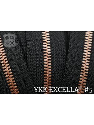 Excella® Excella® #5 Bright Copper van de rol - Zwart (580). Per Meter