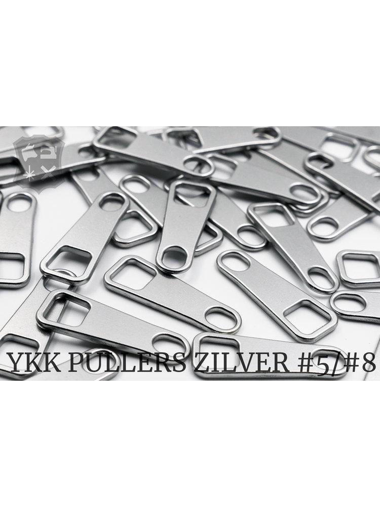 YKK Metaal Klassieke Zilveren YKK Rits Pullers (5 stuks)