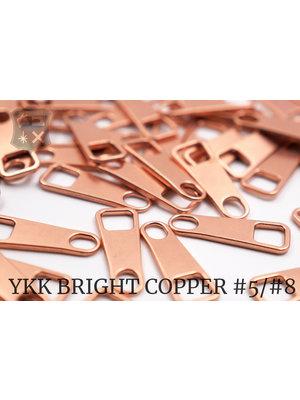 YKK Metaal Klassieke YKK Pullers #5, bright copper (5 stuks)
