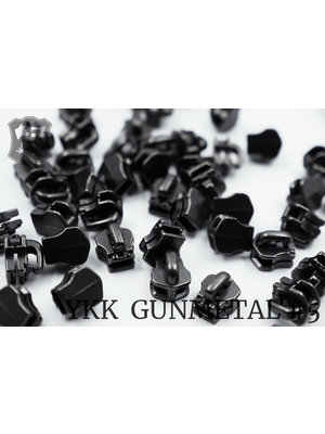 YKK Exclusieve YKK sluiter #5, gunmetal (5 stuks)