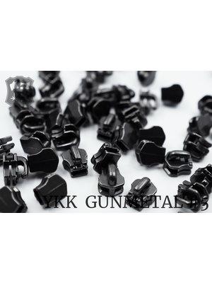 YKK Metaal Exclusieve YKK sluiter #5, gunmetal (5 stuks)