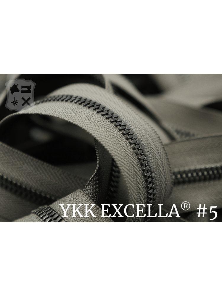 YKK Excella® Excella® #5 Gunmetal van de rol - Taupe (034). Per Meter