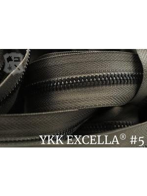 YKK Excella® Excella® #5 Gunmetal van de rol - (Y05: Taupe 034)