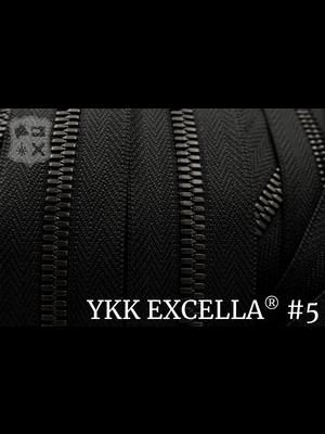 Excella® Excella® #5 Gunmetal van de rol - Zwart (580). Per Meter