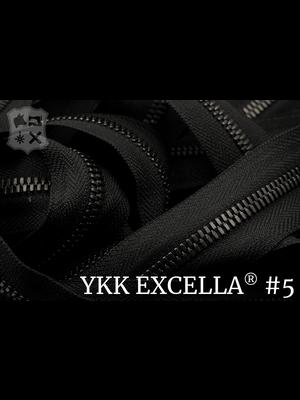 YKK Excella® Excella® #5 Gunmetal van de rol - (ZA19 - Zwart 580)