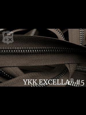 YKK Excella® Excella® #5 Gunmetal van de rol - (V19: Donkerbruin 088)