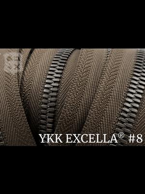 Excella® Excella® #8 Gunmetal van de rol - Donkerbruin (088). Per Meter