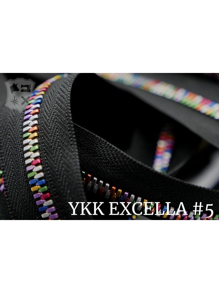 YKK Excella® Excella® #5 Rainbow van de rol - (ZA19 - zwart 580)