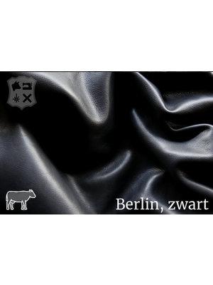 Berlijn Zwart semi-plantaardig gelooid leder