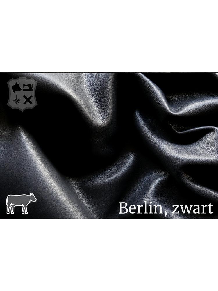 Berlijn Zwart Leder met semi-plantaardig met Aniline looiing)
