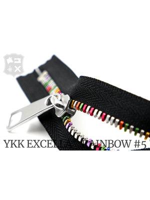 YKK Excella® YKK Excella Rits #5 Rainbow op maat (enkel)