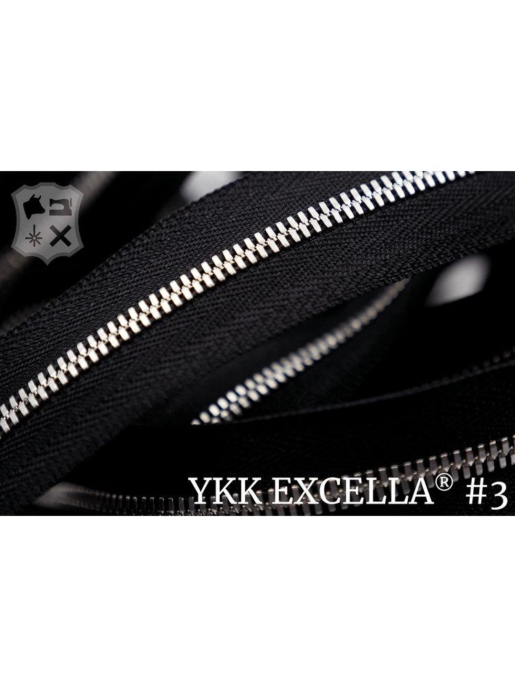 YKK Excella® Excella® #3 Zilver van de rol - zwart (580)