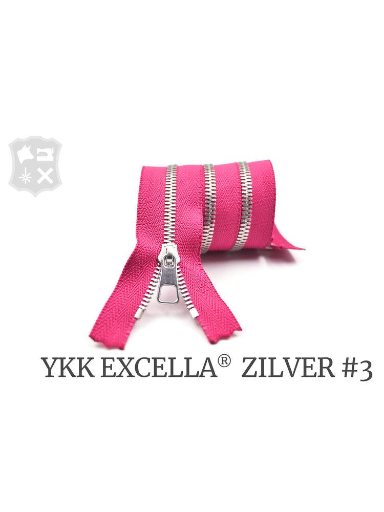 YKK Excella® YKK Excella Rits #3 zilver op maat (enkel) - (R19 - Roze 354)