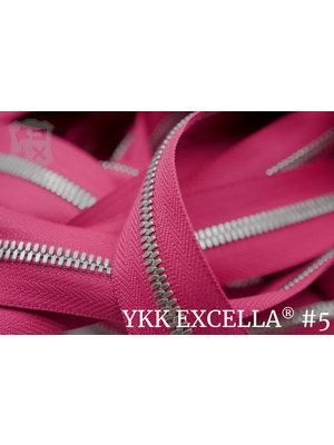 YKK Excella® Excella® #5 Zilver van de rol - (R19 - Roze 354)