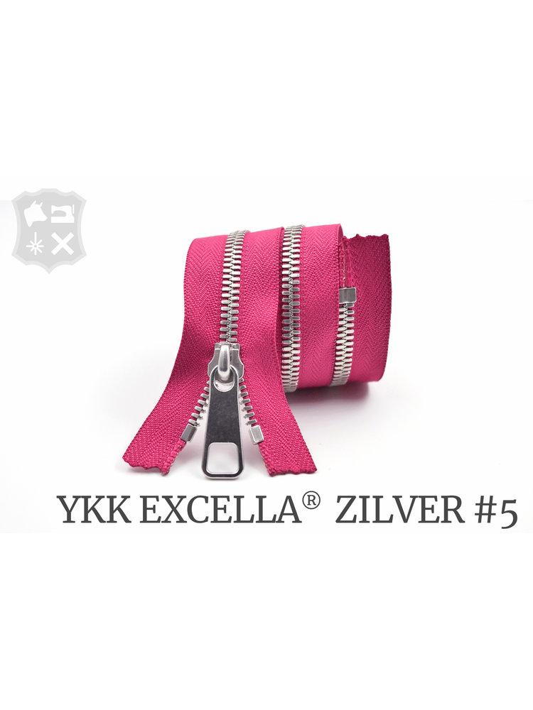 YKK Excella® YKK Excella Rits #5 zilver op maat (enkel) - (Roze 354)