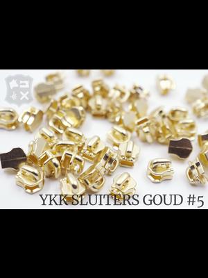 YKK Metaal Exclusieve Gouden YKK sluiters, maat 5, met kliksysteem (5 stuks)
