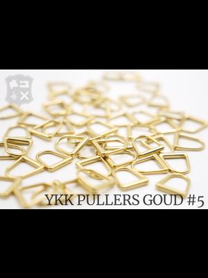 YKK Metaal D-ring YKK Pullers #5, goud (5 stuks)